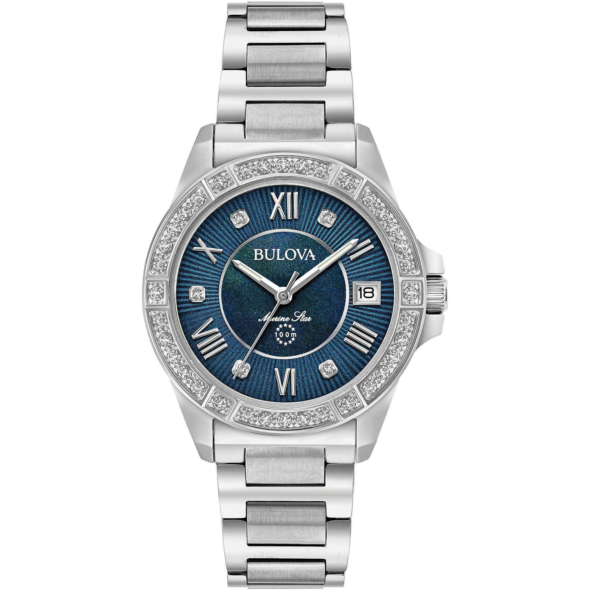 best sneakers a7987 9dea2 BULOVA-Marine Star orologio da donna con diamanti