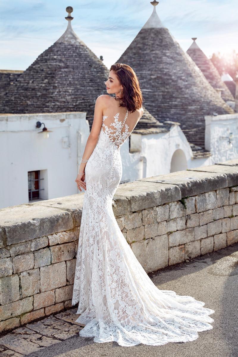 Abito sposa sirena pizzo mod. ADELA Eddy K - Favole  7b65b1a3c94