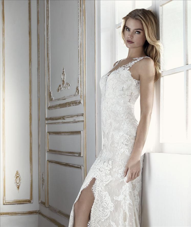 98fee5217c2c Abito sposa con spacco mod. PARIS LA SPOSA - Favole