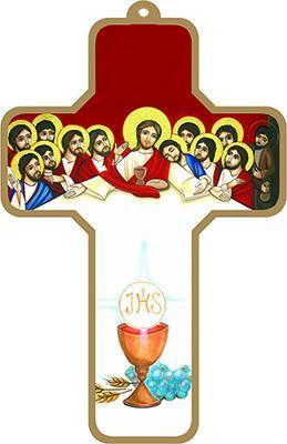 Croce legno comunione da appendere la flora snc for Arredi liturgici cammino neocatecumenale