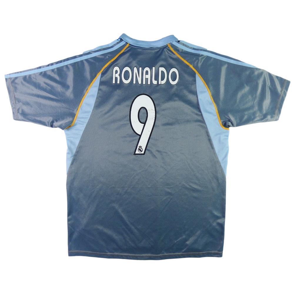 pretty nice a0a1d ec2c3 2003-04 Real Madrid SHIRT #9 Ronaldo Third L
