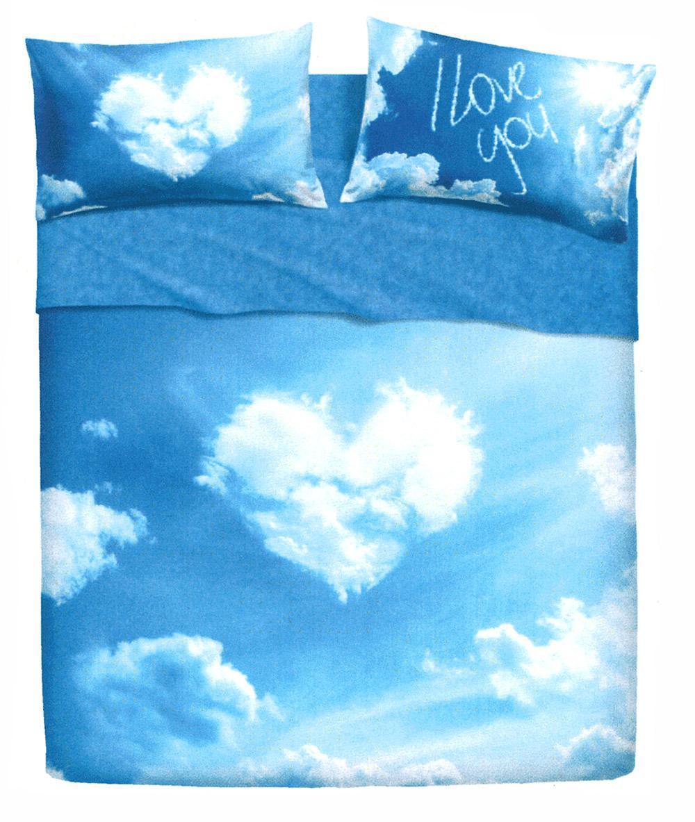 Lenzuola Bassetti Da Letto Singolo Love Is A Dream Nuvole Azzurro