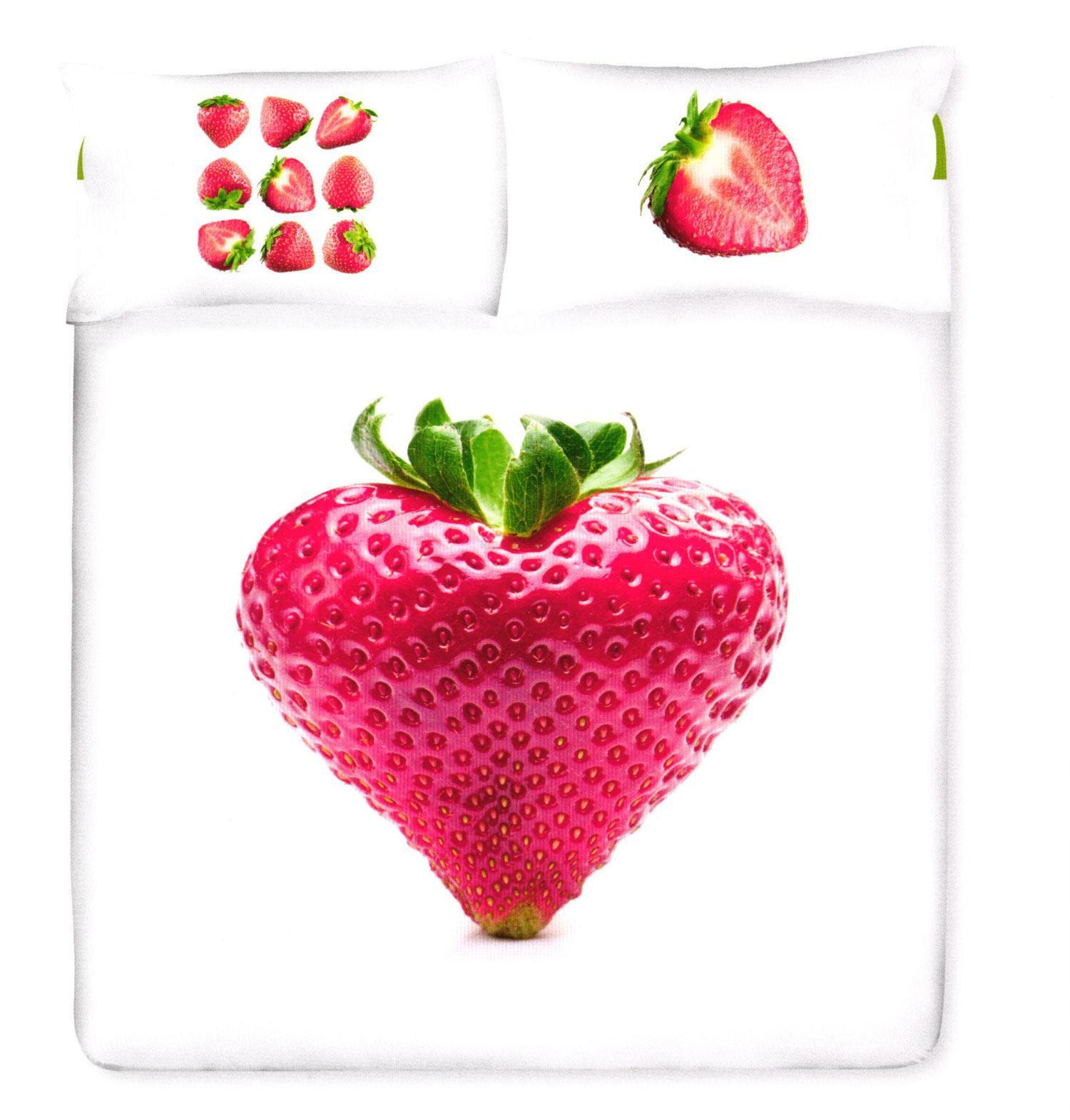 Cuscini Gabel.Strawberry Strawberry Duvet Set For Double Bed Gabel