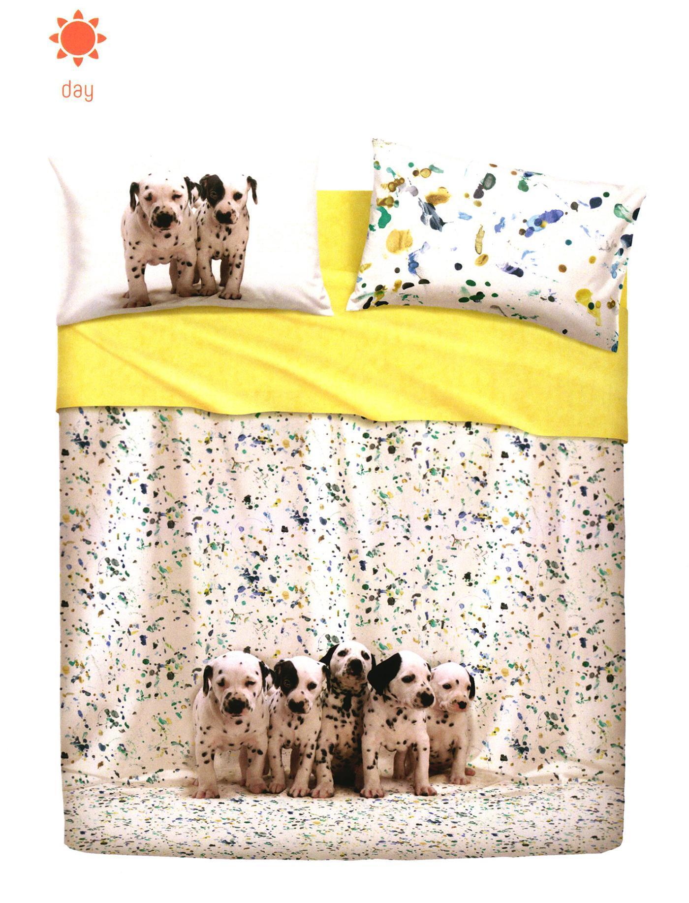 Set lenzuola Bassetti FUNNY DOGS per letto matrimoniale 2016