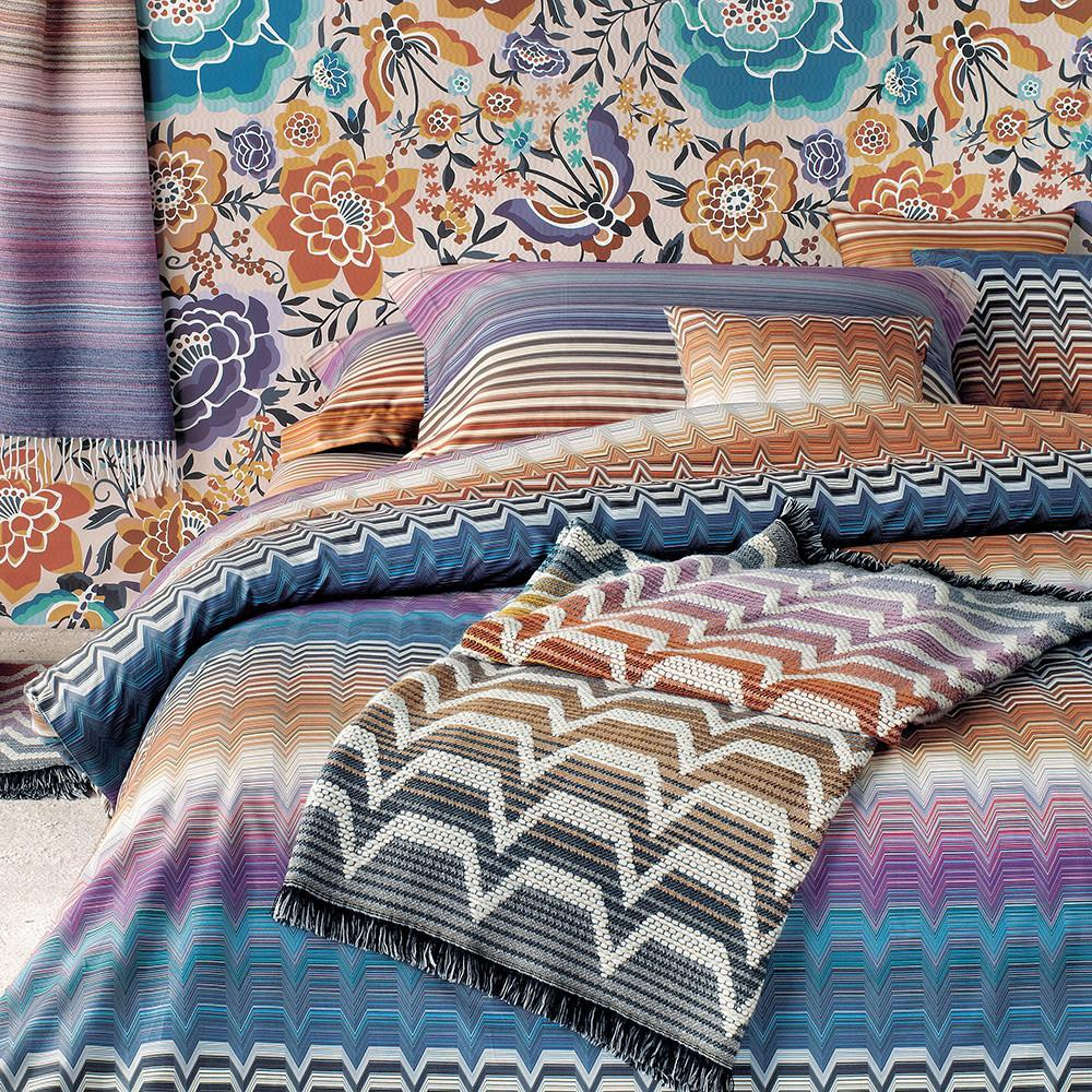 Copripiumino Missoni.Missoni Duvet Cover With Double Pillowcases Missoni Home Seymoure Mh