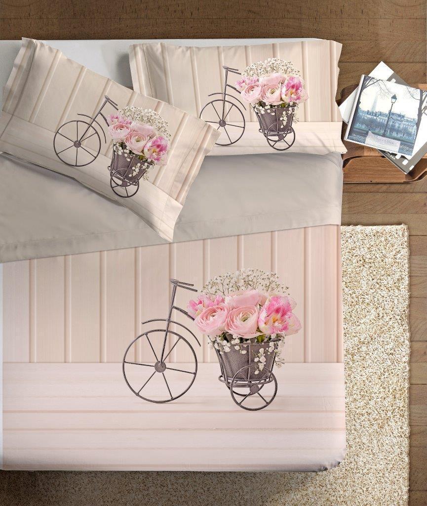Lenzuola Matrimoniali In 3d.Set Lenzuola Stampa Digitale 3d Rose In Bici Matrimoniale Alta Definizione