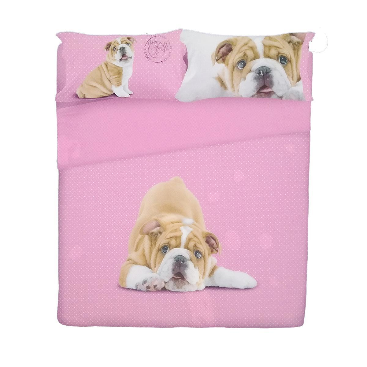 Copripiumino Gabel Planet.Duvet Cover Bed Gabel Photographic Doggy Shar Pei Puppies