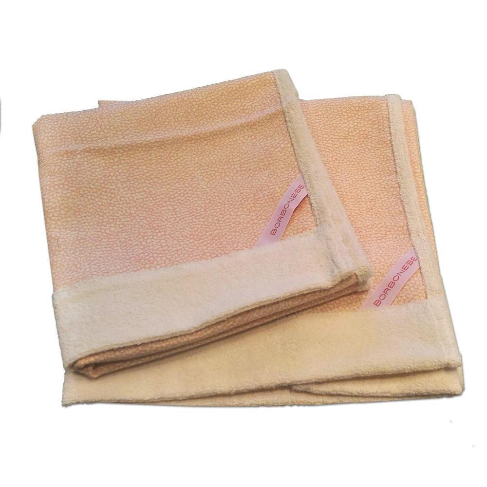 Set 1+1 asciugamano e ospite in spugna Borbonese LEADER OP rosa chiaro