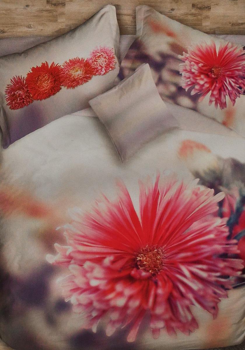 Copripiumino Natura.Set Copripiumino Per Letto Matrimoniale Flower Power Fiore Rosso