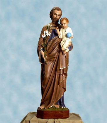 Statua san giuseppe cm 125 occhi dicristallo vetroresina for Arredi interni san giuseppe vesuviano