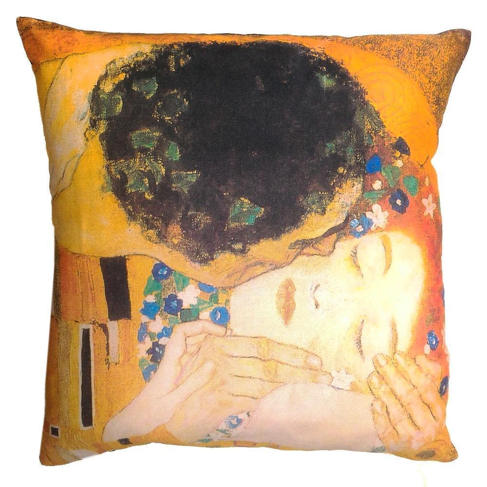 Cuscini A Quadri.Cuscino Arredo Decorativo 40x40 Quadri D Autore Bacio Klimt