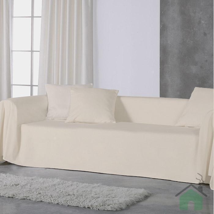 Copridivano granfoulard tinta unita in vari colori for Telo arredo divano bassetti