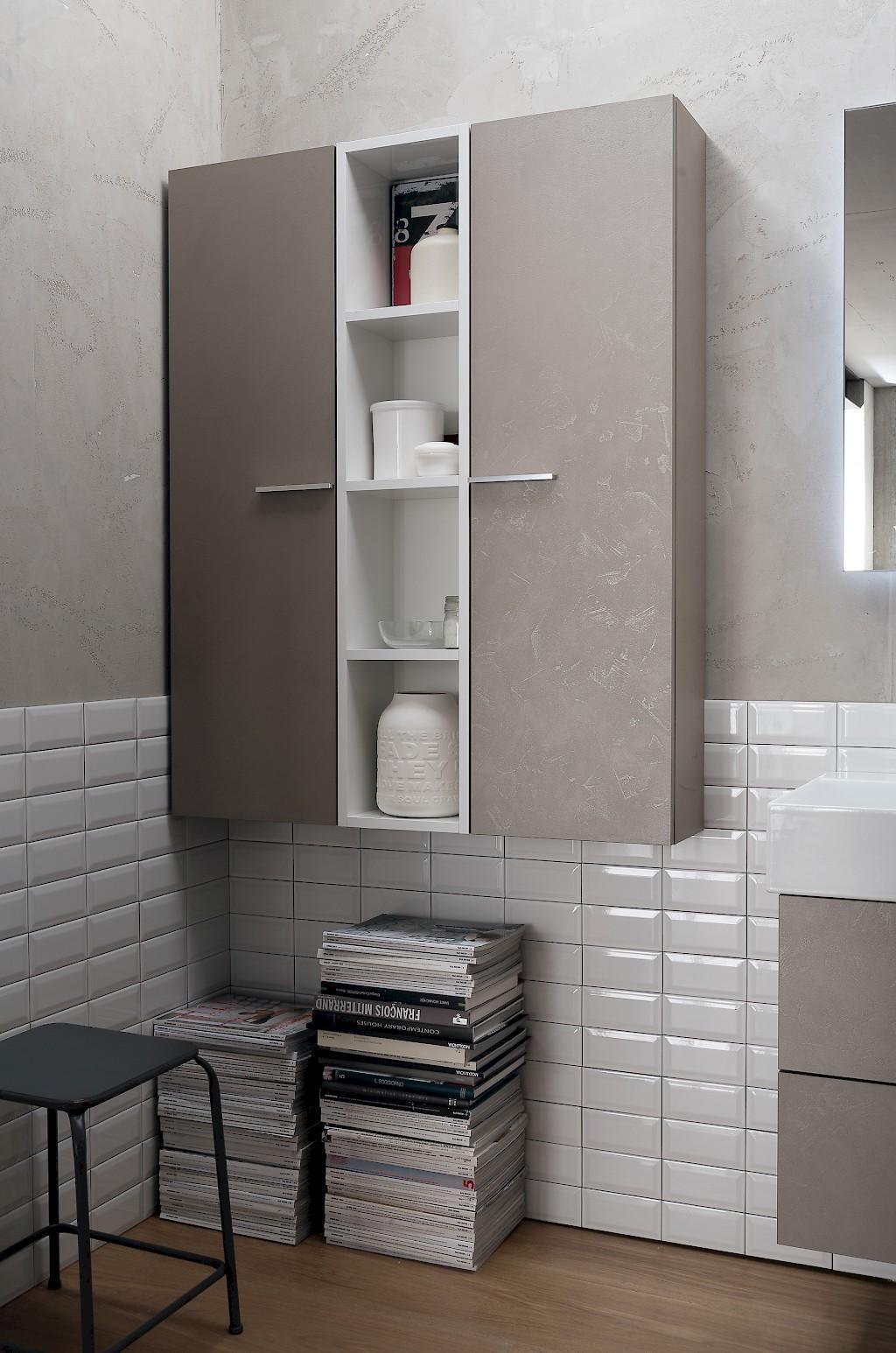 Colonne bagno sospese e pensile a giorno modello b201 77 for Colonnine bagno