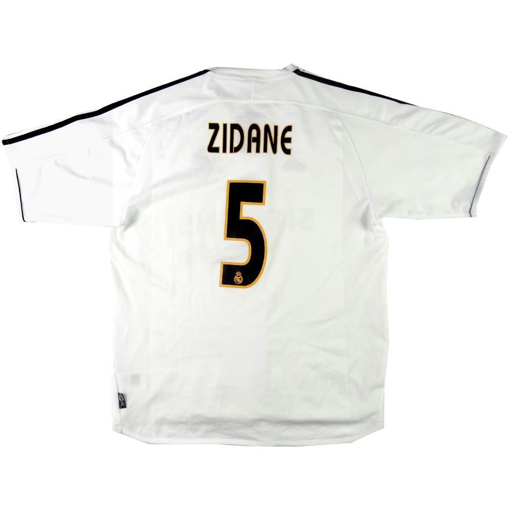 67f02b4a4ae 2003-04 Real Madrid shirt  5 Zidane Home L (Top) - TOP VINTAGE FOOTBALL