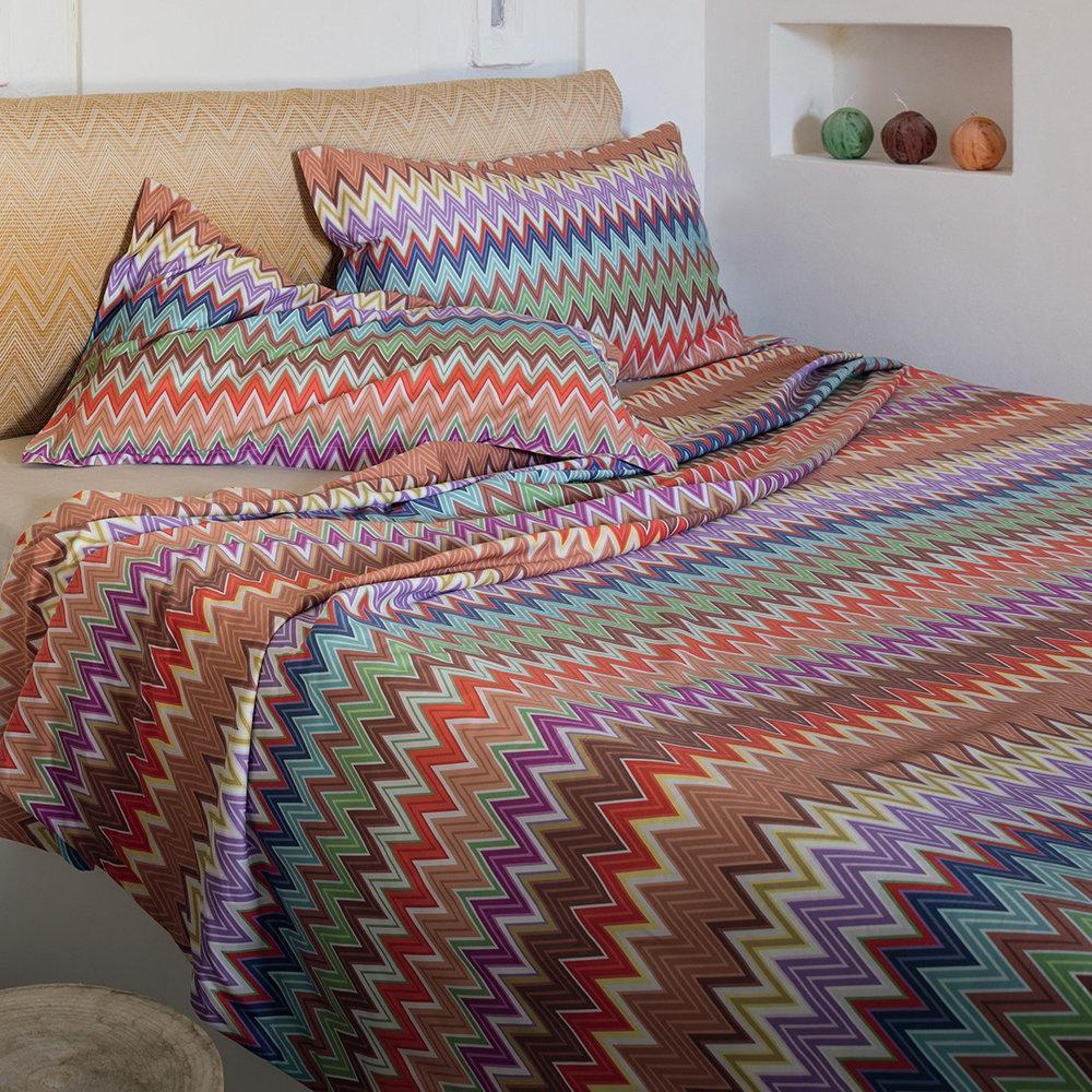 Copripiumino Missoni.Missoni Home Bedding Set For Queen Size Valentino 100 Zig Zag Design