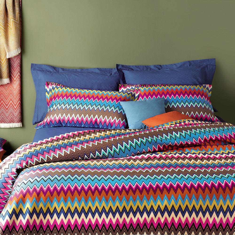 Lenzuola Matrimoniali Design.Missoni Home Double Bed Sheets Valentino 160 Zigzag Design