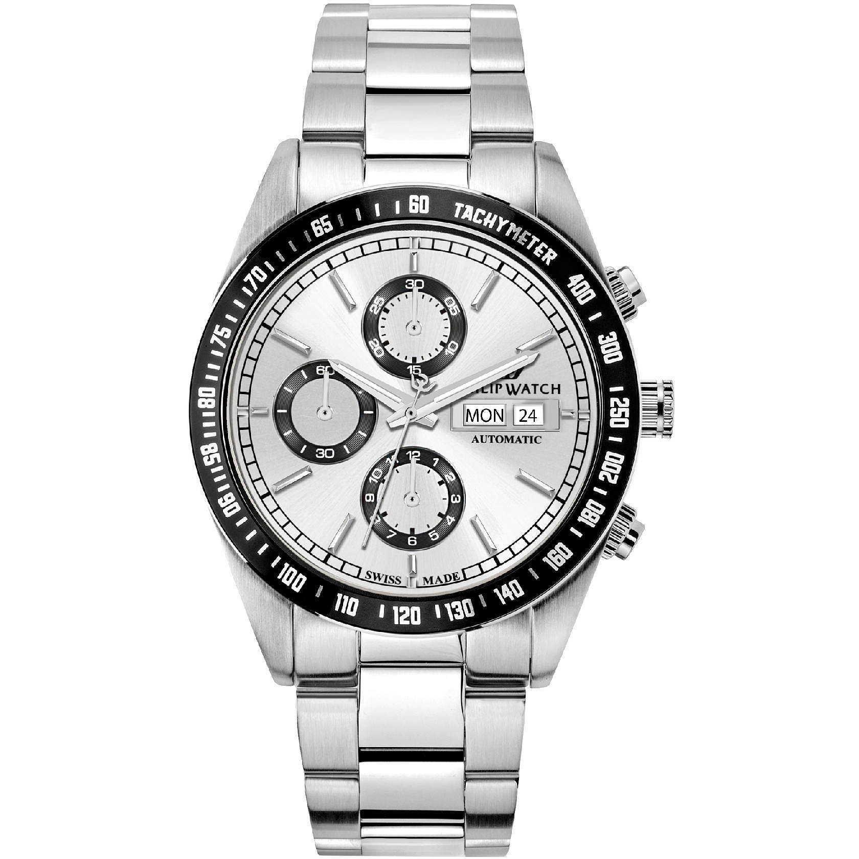 Cronografo Preziosi Piscitello Watch Philip Uomo Automatico N0nOv8wym