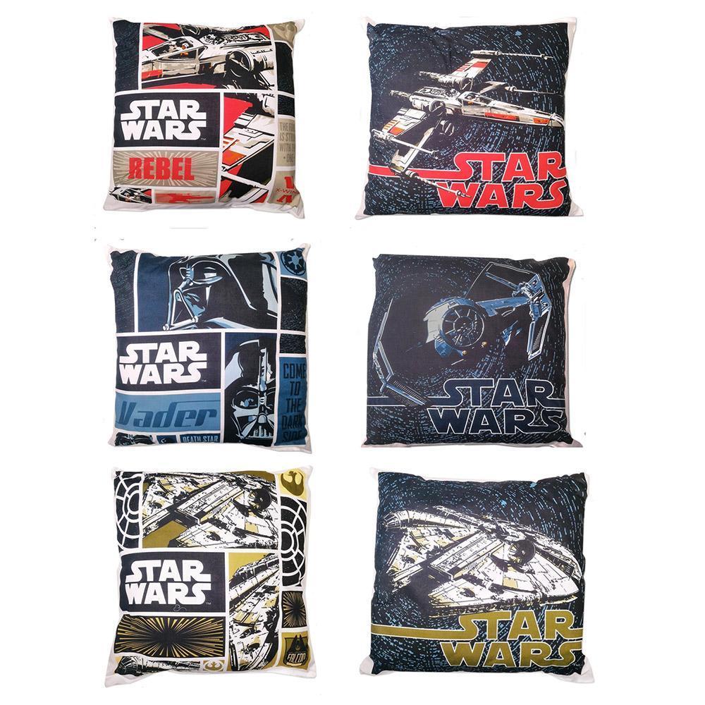 Cuscini Bassetti.Star Wars 3 Cuscini Imbottiti Bassetti 40x40 Cm Rebel Vader Falcon