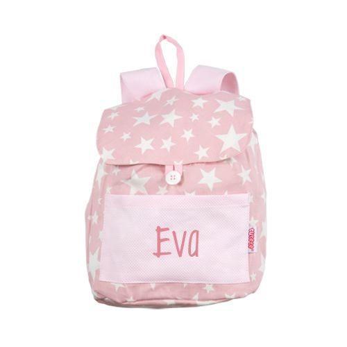 b1b712a5e9 Zaino Zainetto Grande Vichy Stelle Rosa con nome personalizzato - Il Mondo  Baby