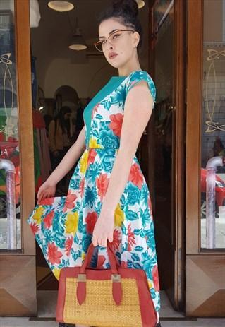 reputable site d20aa 8f9d2 Vestito Lungo Vintage ORIGINALE ANNI 50