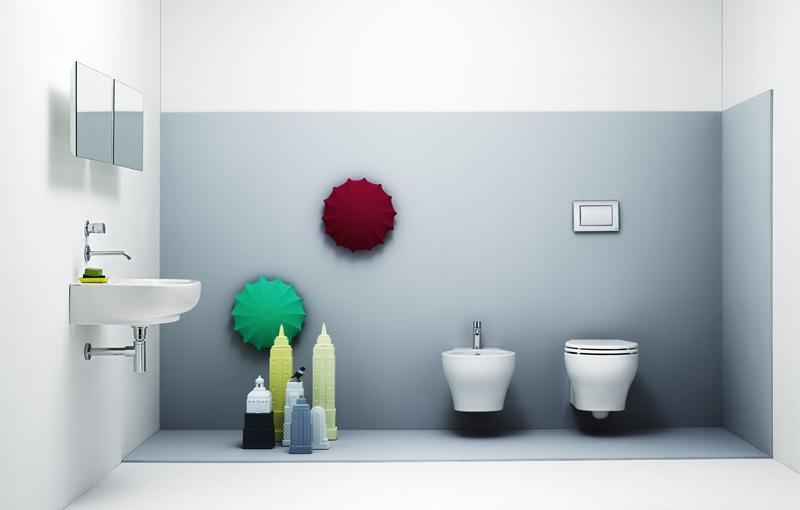 Linea bagno sanitari sospesi collezione vera di azzurra - Linea azzurra mobili ...
