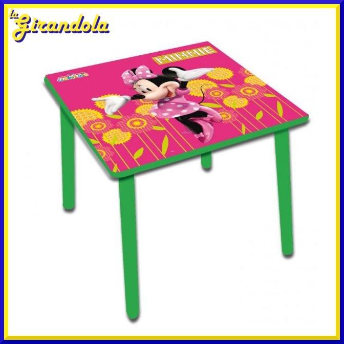 Tavolino Disney Legno.Tavolino Quadrato In Legno Minnie Disney