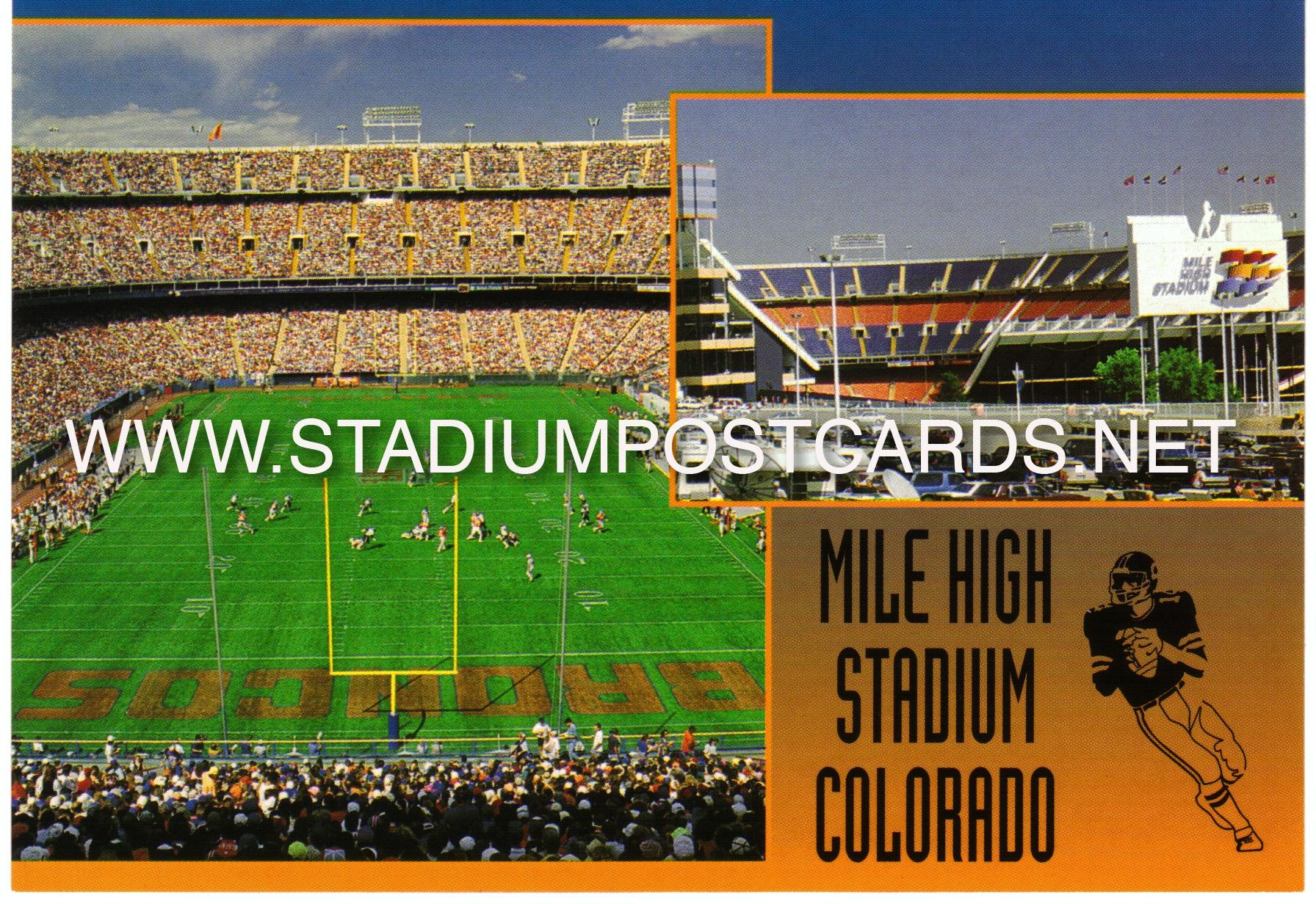 CO Denver Mile High Stadium postcard (715)