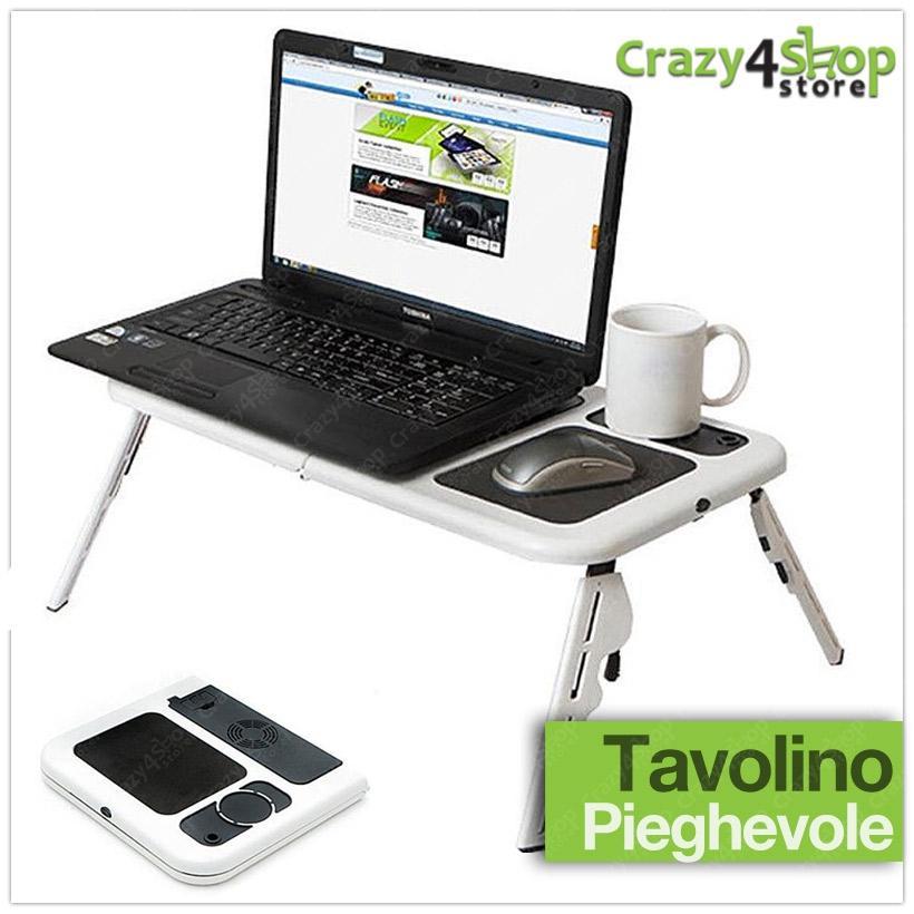 Tavolino Notebook Letto.Tavolino Base Supporto Portatile Pieghevole Per Pc Notebook Letto Ventola Usb