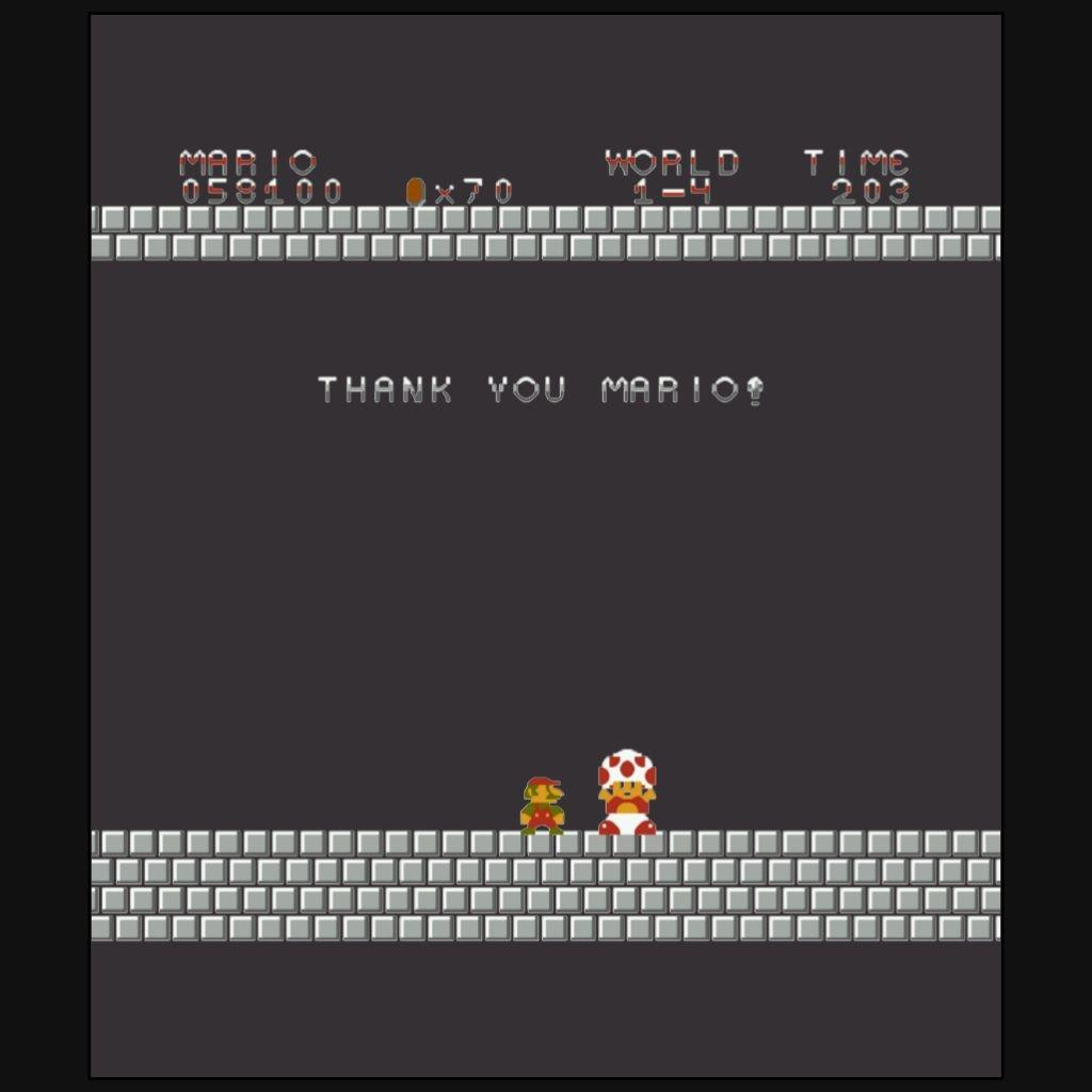 Your Score Desktop Mario Super Bros Video Games Whitebeard Print Tees