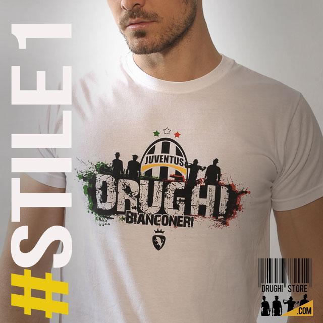 T-Shirt ULTRAS DRUGHI BIANCONERI ITALIA italie Maillot ★★★★★