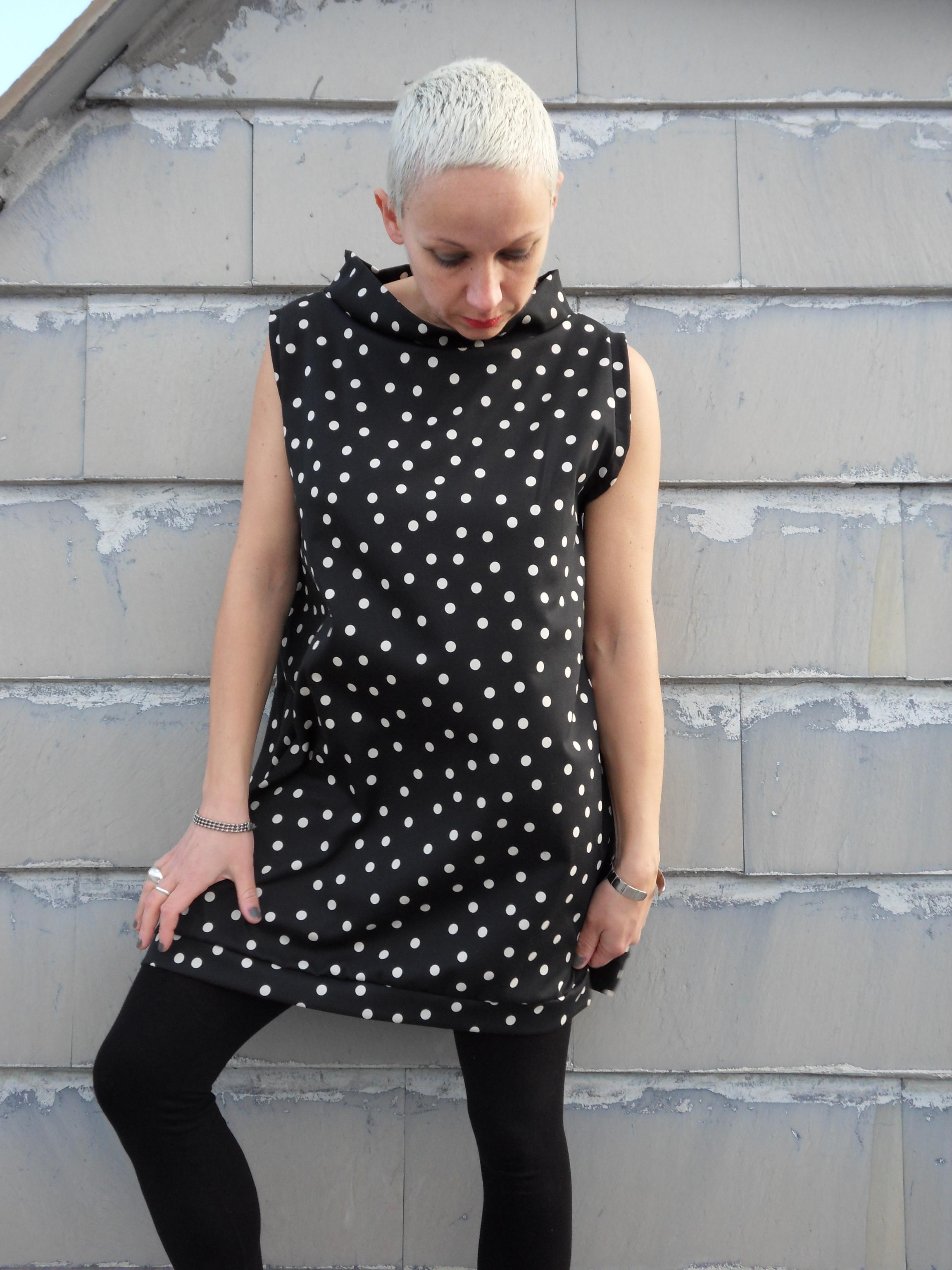 Polka dot women dress