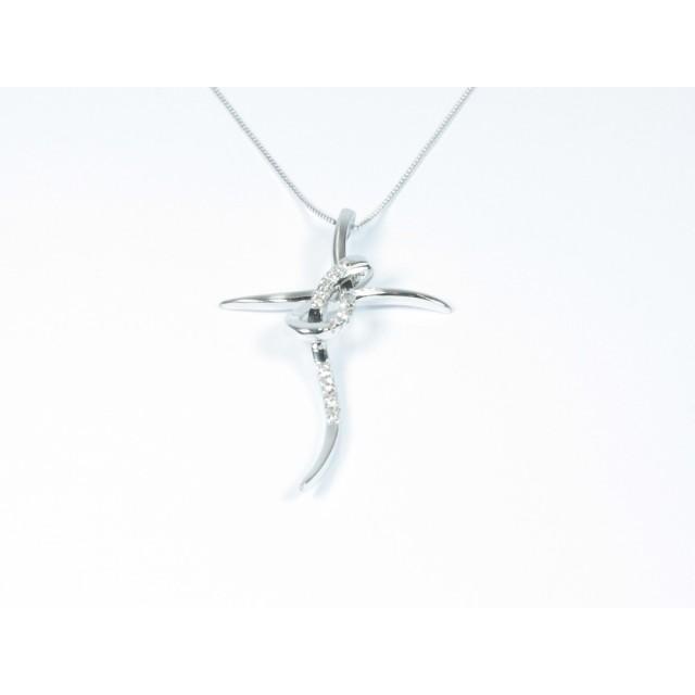 più amato a0ca4 5918b Collana croce oro bianco diamanti carati 0,05 Colore D - Purezza  VVS1Modello:1003968