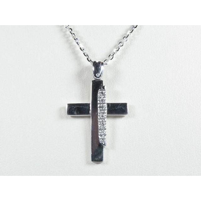 vendita calda online 37b50 4fb0a Collana croce in oro bianco da uomo diamanti selezionati carati 0,035  G-VVS1Modello:1004055