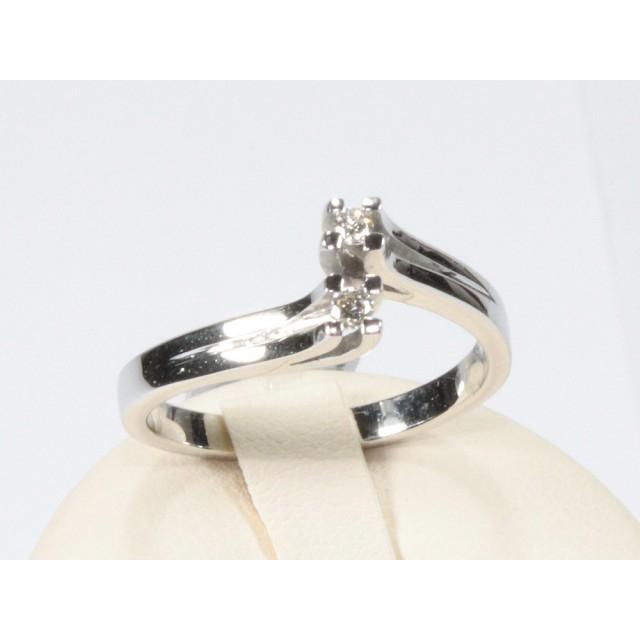 comprare popolare 2362c d14b3 Anello contrarie oro bianco diamanti carati 0,08 G-VS1Modello:1003711