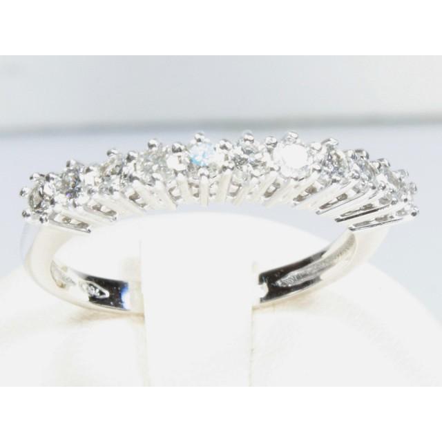 9801b88cbf4bf4 Anello mezza veretta oro bianco diamanti carati 0,55 G-VVS1 Modello:1003920