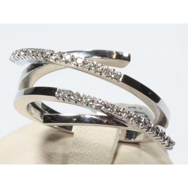 nuovo arrivo 78e50 65175 Anello contrarie oro bianco diamanti carati 0,12 G-VS1 Modello:1001619