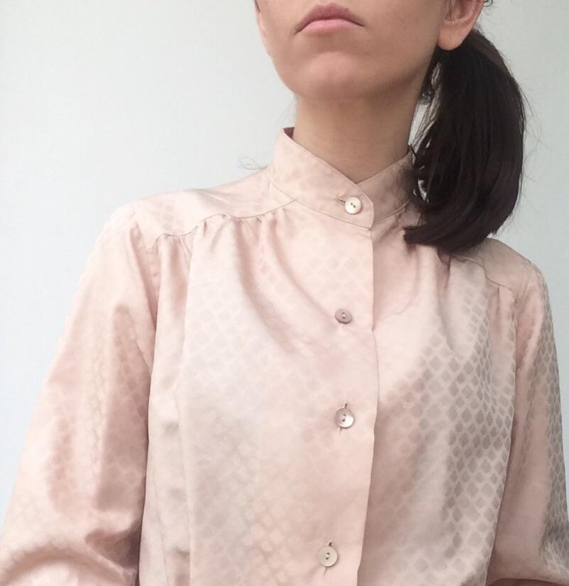 new style 26bbb fbf16 Camicia vintage rosa cipria . Tg S