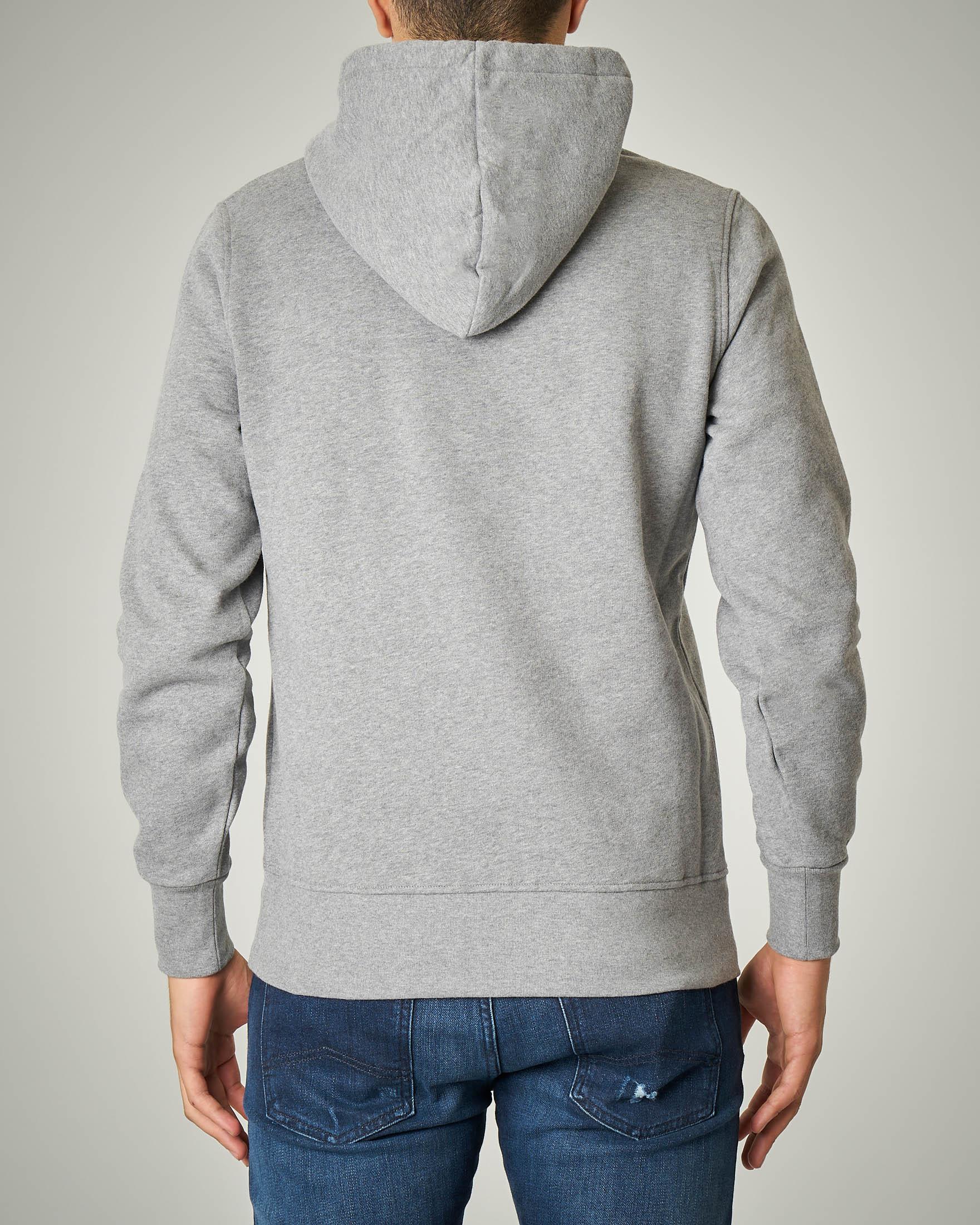 Felpa grigio chiaro con cappuccio