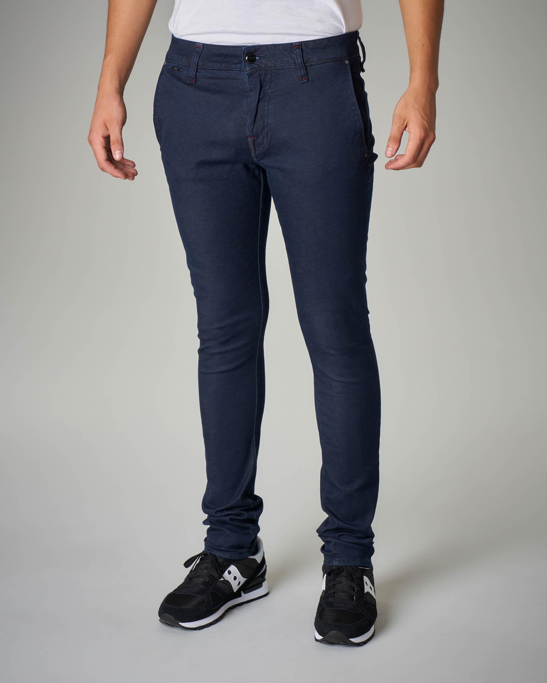 Jeans skinny blu con tasca america