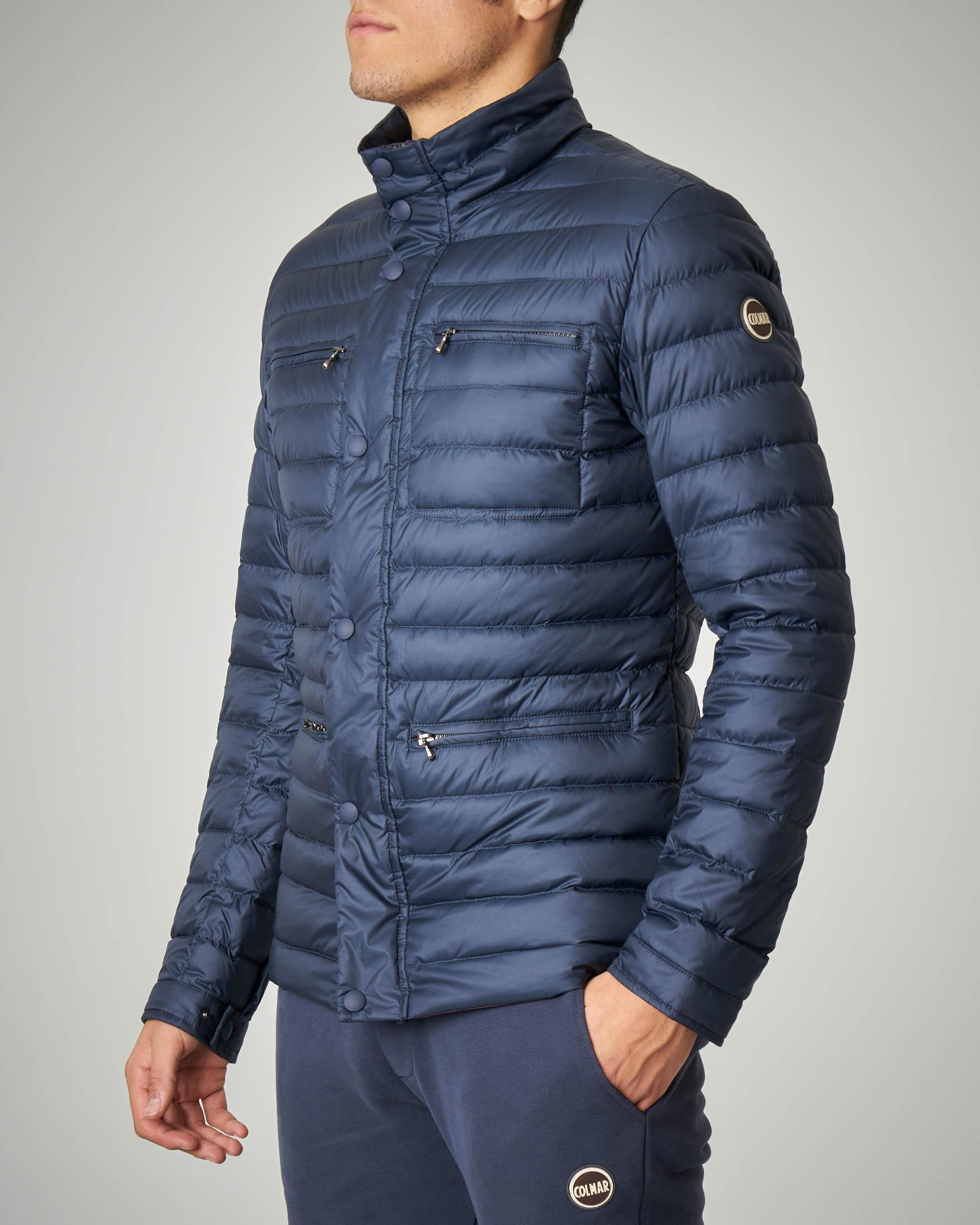 Piumino blu field jacket leggero