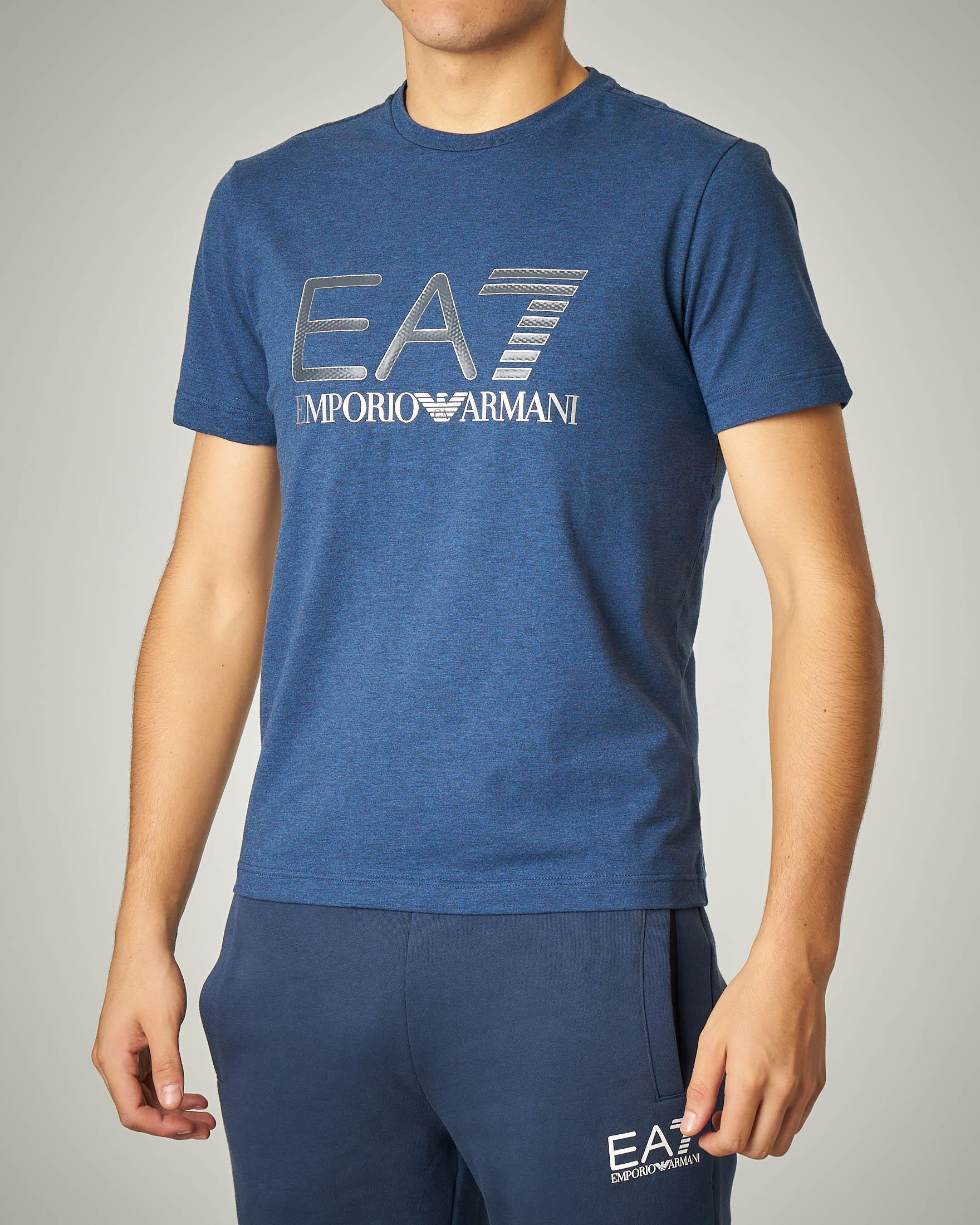 T-shirt avio stretch logo argento