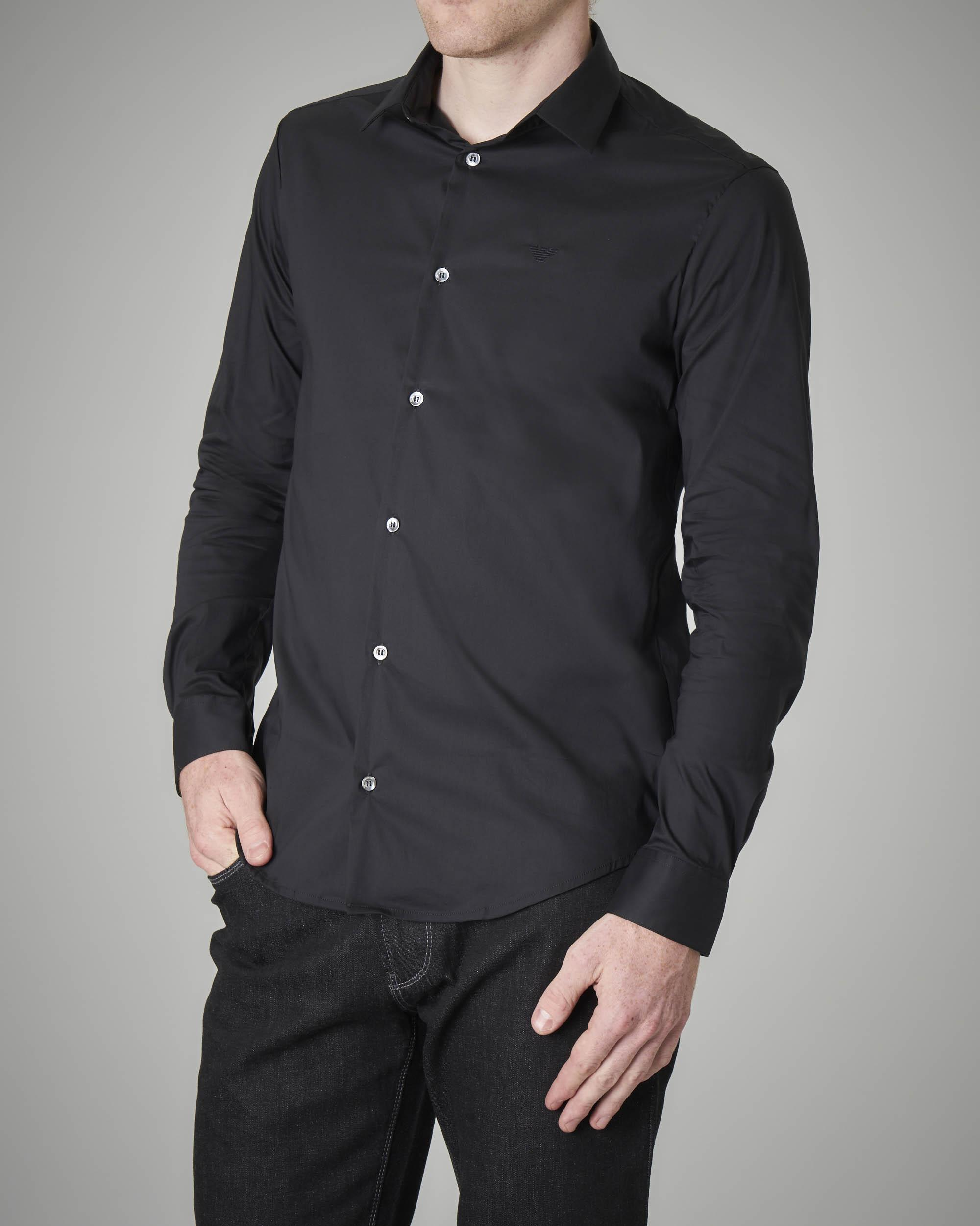 Camicia nera stretch