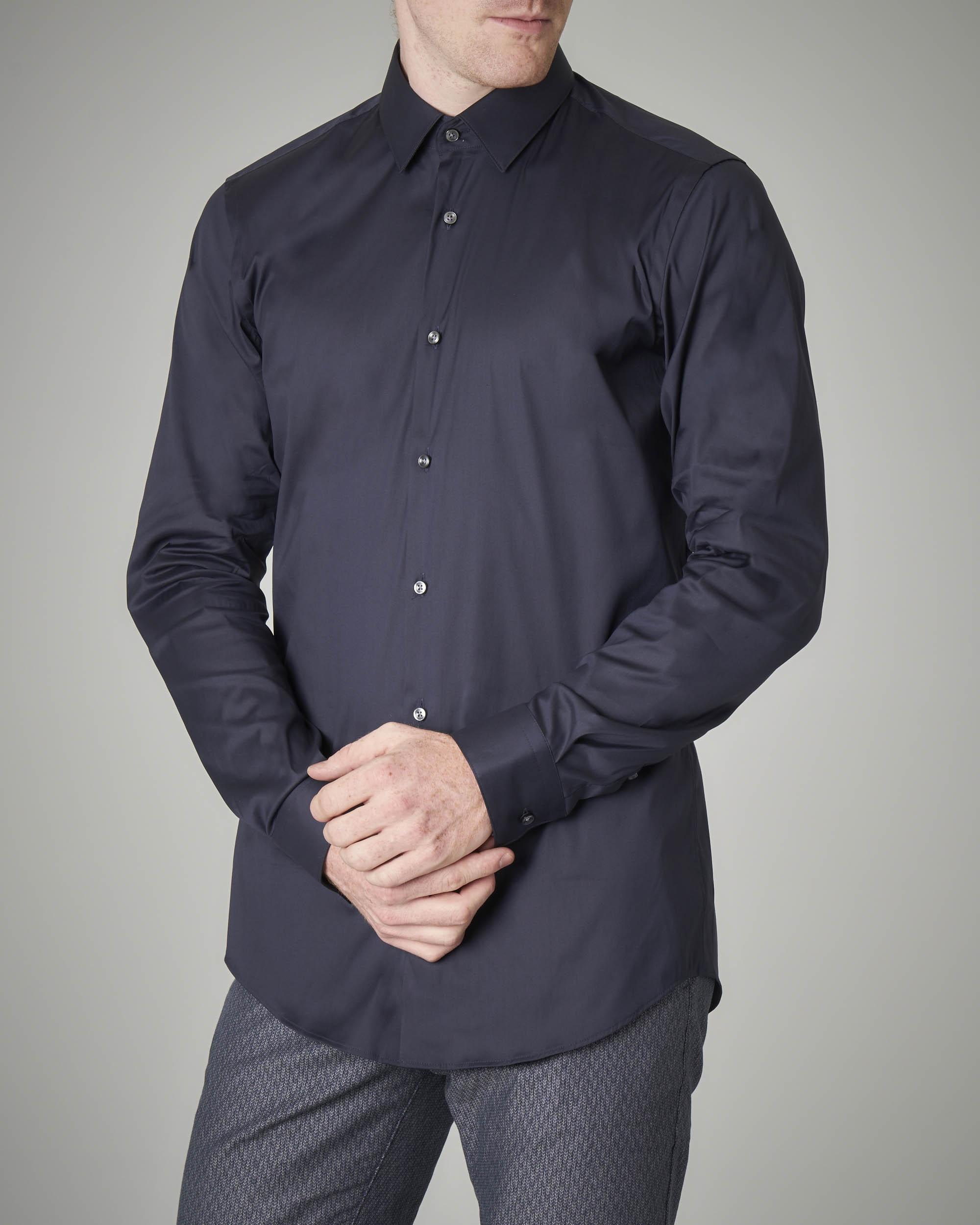 Camicia blu stretch extraslim