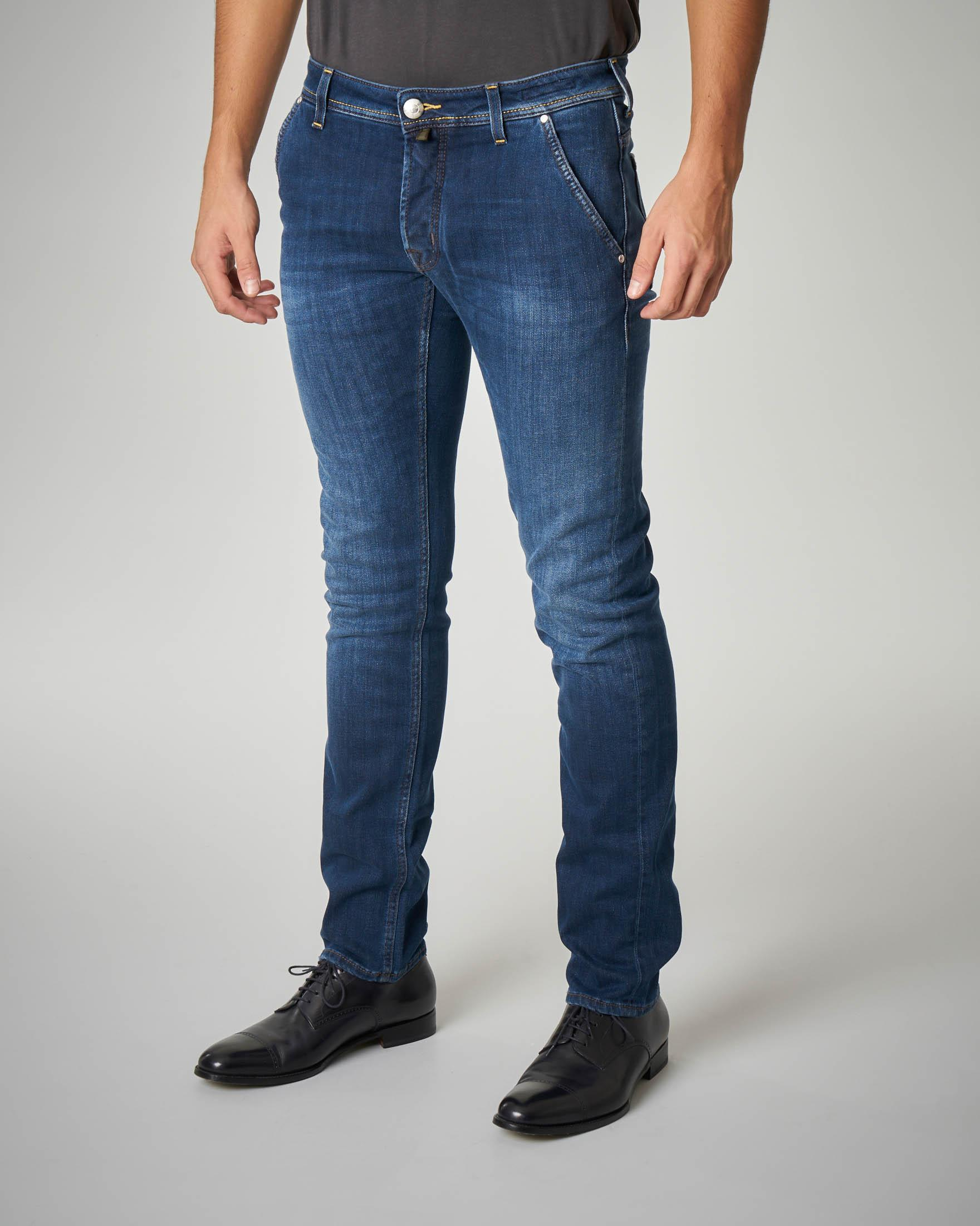 Jeans tasca america scuro