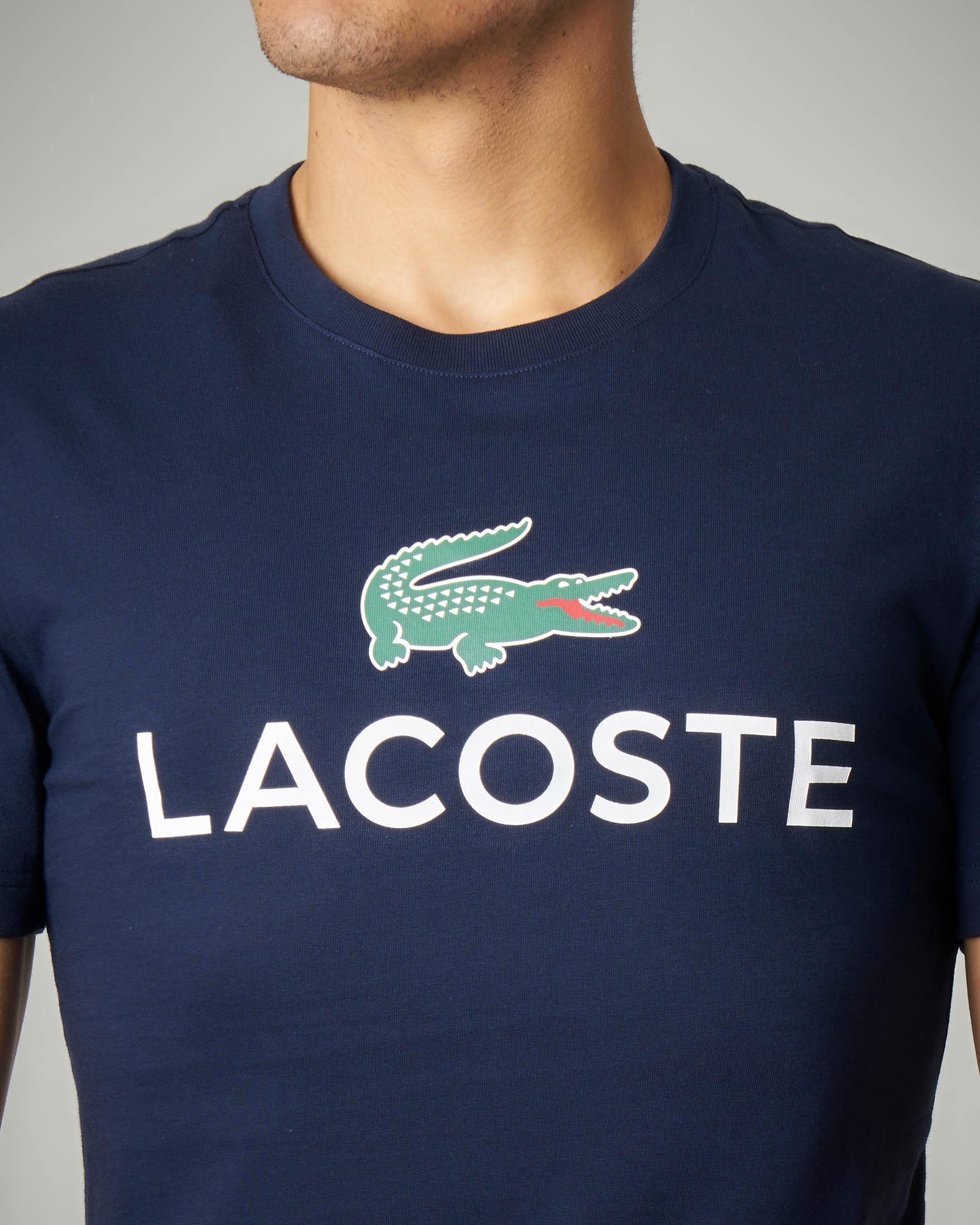 T-shirt blu in cotone