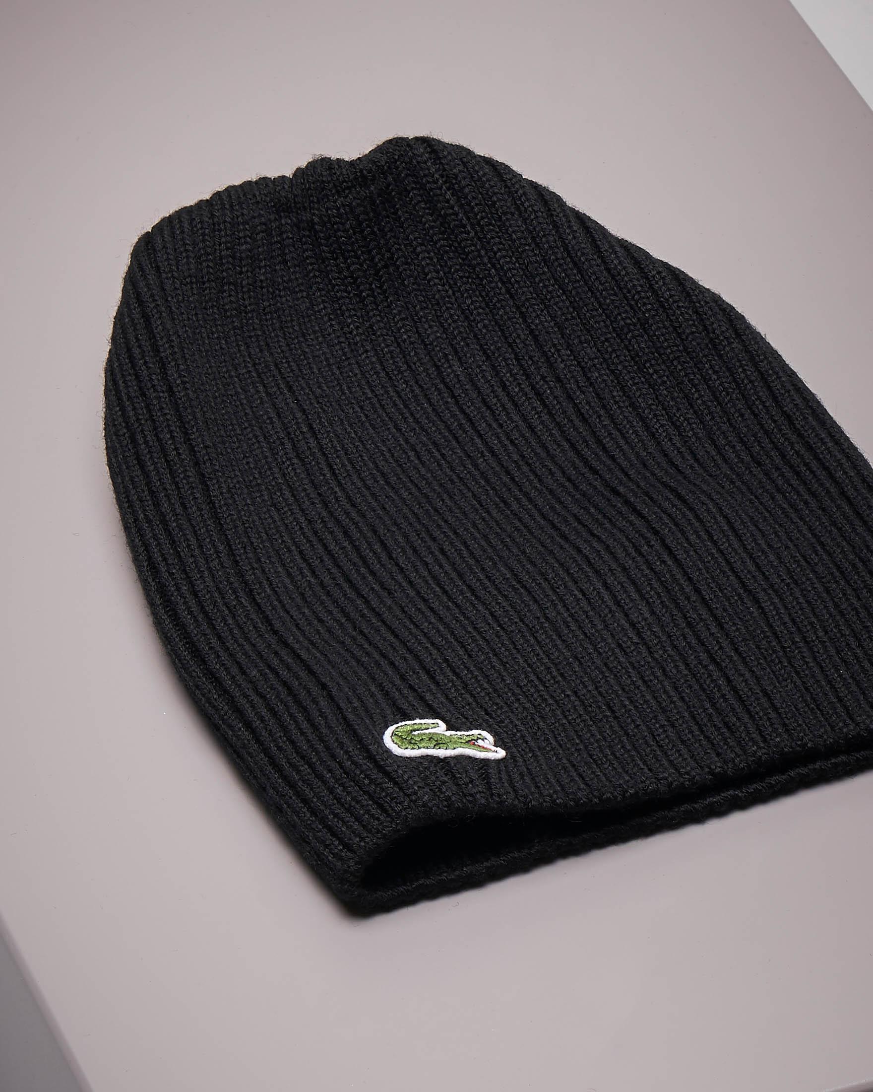 Berretto nero in lana