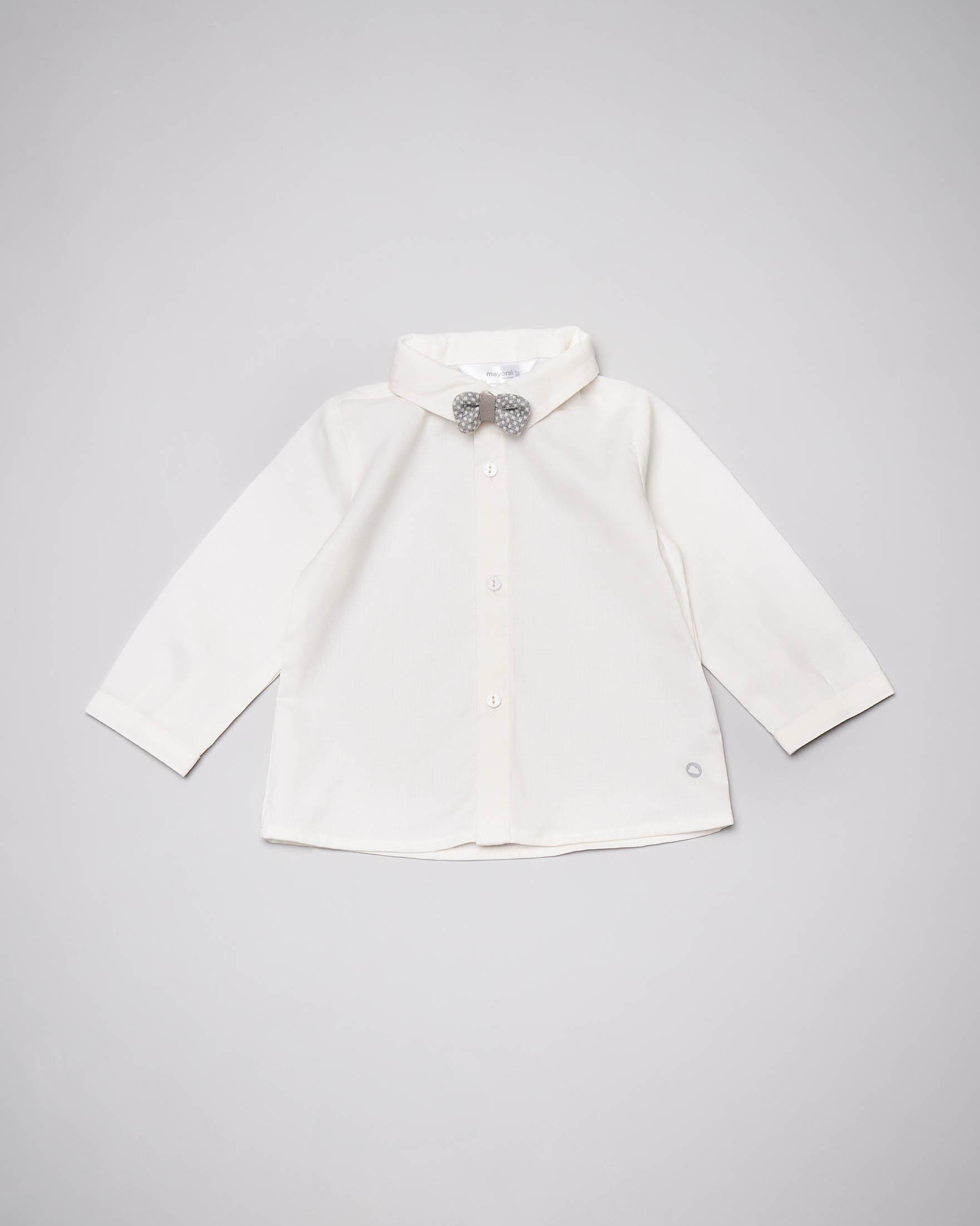 Camicia avorio con papillon