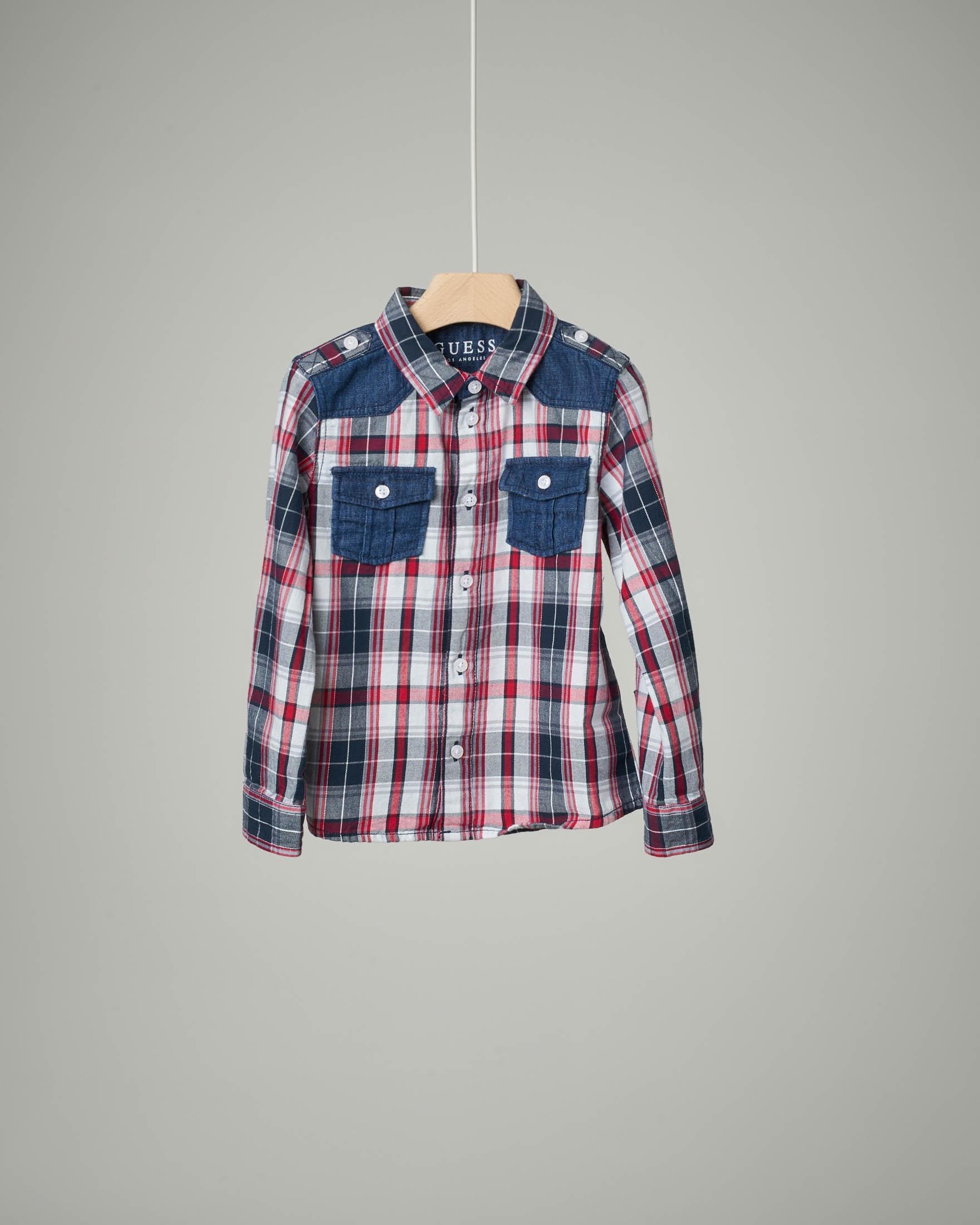 Camicia quadri rosso-blu