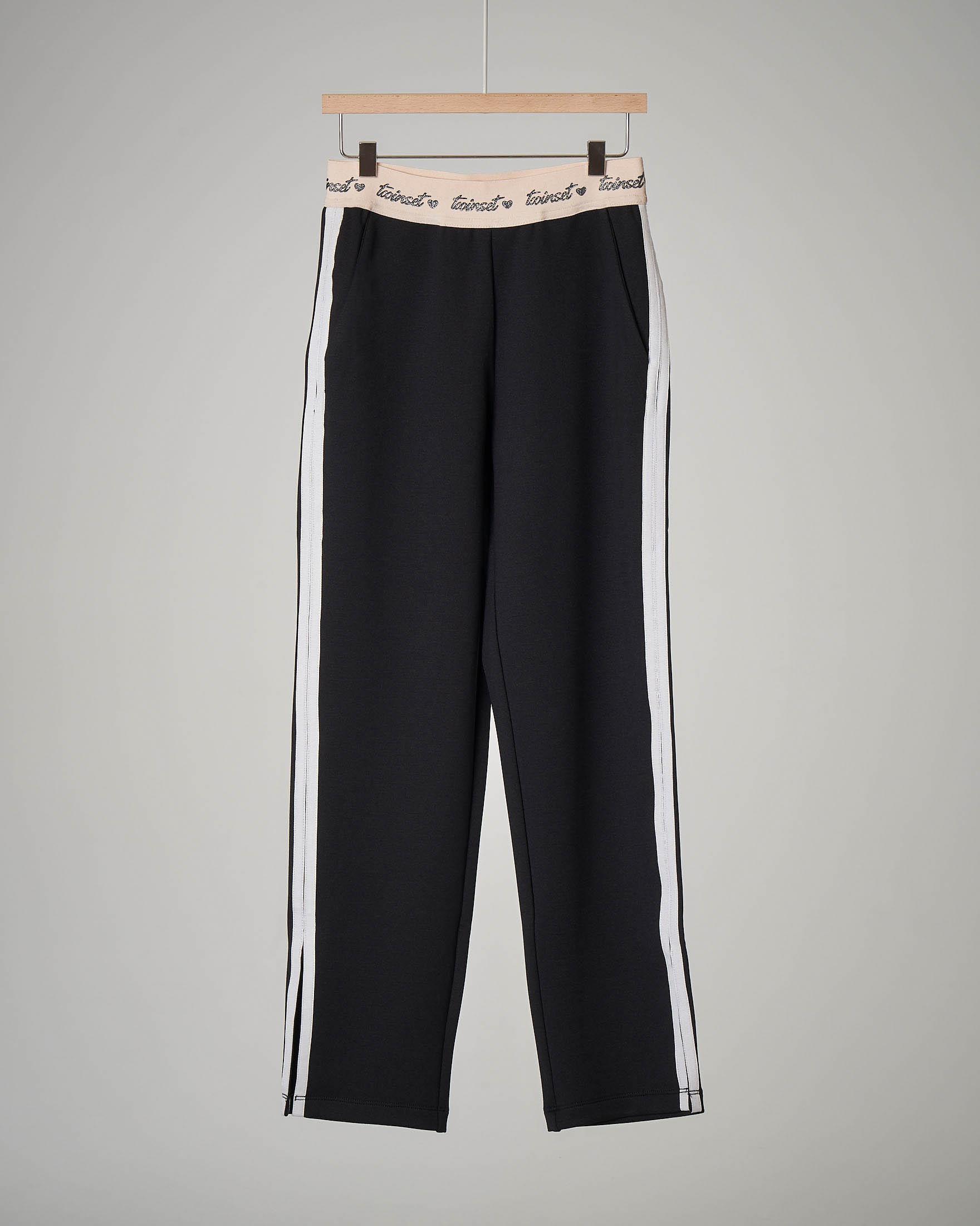 Pantalone nero con banda