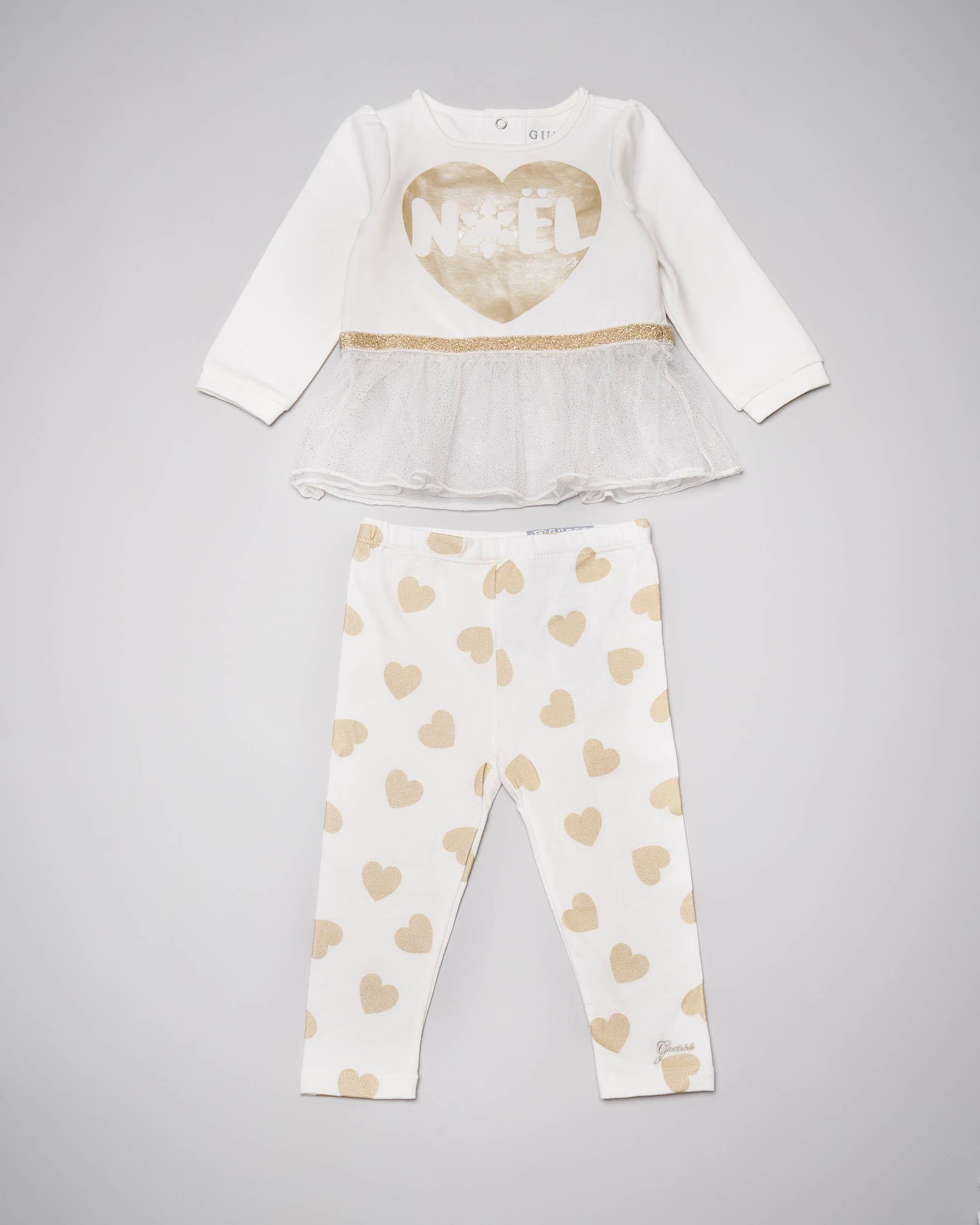 Completo bianco avorio con leggings